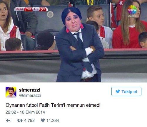 Oynanan futbol fatih terimi memnun etmedi - Resimli Komik Twitter Paylaşımları - En Yeni Komik Tweetler, twitter-sozleri