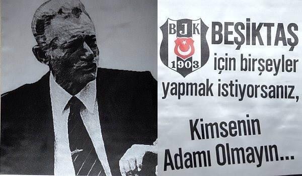 Beşiktaş için birşeyler yapmak istiyorsanız kimsenin adamı olmayın - Beşiktaş İle İlgili Resimli Sözler - Beşiktaş Sözleri Ve Kareografileri, resimli-sozler