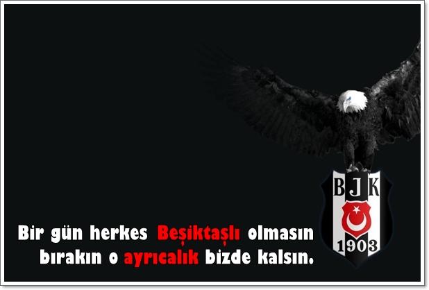 Bir gün herkes Beşiktaşlı olmasın bırakın o ayrıcalık bizde kalsın - Beşiktaş İle İlgili Resimli Sözler - Beşiktaş Sözleri Ve Kareografileri, resimli-sozler