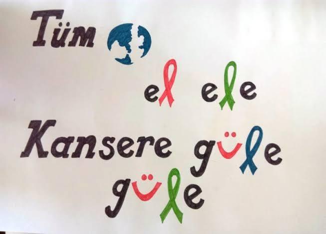 Tüm dünya el ele kanser güle güle - Kanser İle İlgili Resimli Sözler - 4 Şubat Dünya Kanser Günü, resimli-sozler, mesajlar, anlamli-sozler
