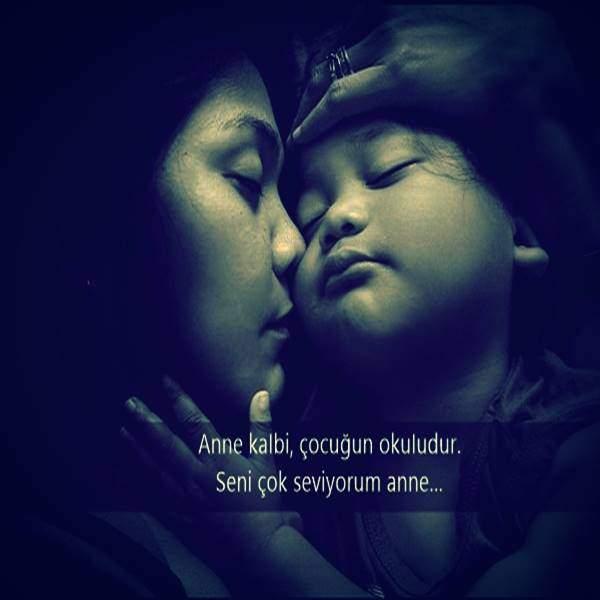 Anne kalbi çocuğun okuludur. Seni çok seviyorum anne - Anne İle İlgili Resimli Sözler - Anne İçin Güzel Sözler, resimli-sozler, guzel-sozler