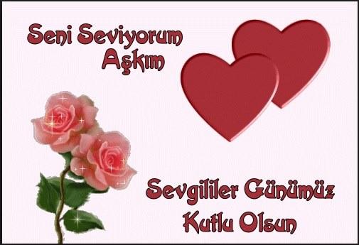 Seni seviyorum aşkım Sevgililer günümüz kutlu olsun - 14 Şubat Sevgililer Günü Mesajları Resimli - Sevgililer Günü Mesajları, resimli-sozler, guzel-sozler, ask-sozleri, anlamli-sozler