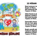 23 Nisan Şiirleri, 23 Nisan Çocuk Bayramı Resimli Şiirler  5