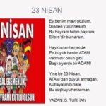 23 Nisan Şiirleri, 23 Nisan Çocuk Bayramı Resimli Şiirler  7