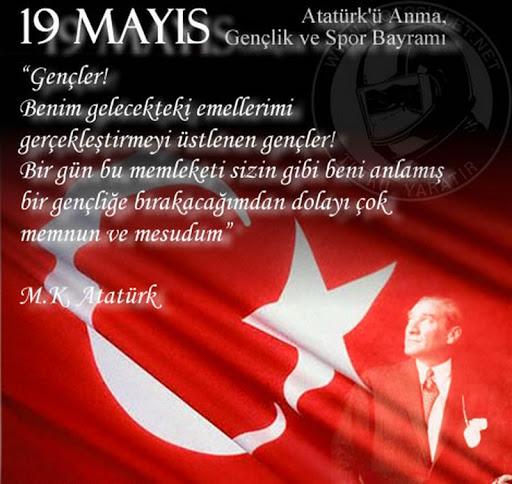 19 Mayıs İle İlgili Resimli Sözler Kutlama Mesajları 19 Mayıs Atatürkü Anma Gençlik Ve Spor Bayramı 22 - 19 Mayıs İle İlgili Resimli Sözler, Kutlama Mesajları - 19 Mayıs Sözleri, resimli-sozler, guzel-sozler