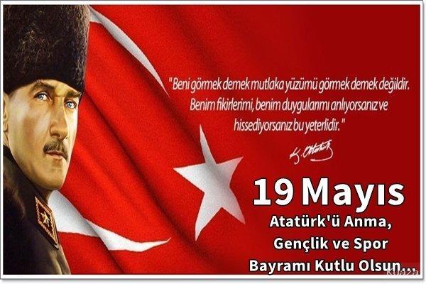 19 Mayıs İle İlgili Resimli Sözler Kutlama Mesajları 19 Mayıs Atatürkü Anma Gençlik Ve Spor Bayramı 31 - 19 Mayıs İle İlgili Resimli Sözler, Kutlama Mesajları - 19 Mayıs Sözleri, resimli-sozler, guzel-sozler