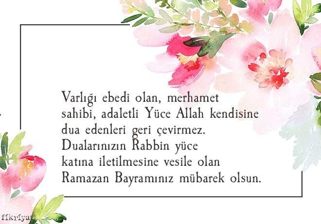 Varlığı ebedi olan merhamet sahibi adaletli Yüce Allah kendisine dua edenleri geri çevirmez - Ramazan Bayramı İle İlgili Resimli Kutlama Mesajları Ve Sözleri, resimli-sozler