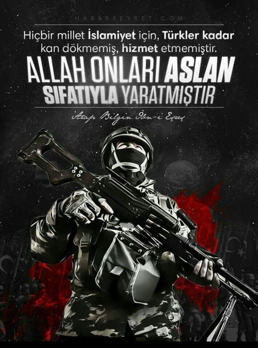 Hiçbir millet islamiyet için Türkler kadar kan dökmemiş hizmet etmemiştir. Allah onları aslan sıfatıyla yaratmıştır. Türk Ordusu İle İlgili Resimli Sözler - Türk Ordusu İle İlgili Resimli Sözler - Türk Ordusu İle İlgili Sözler, resimli-sozler