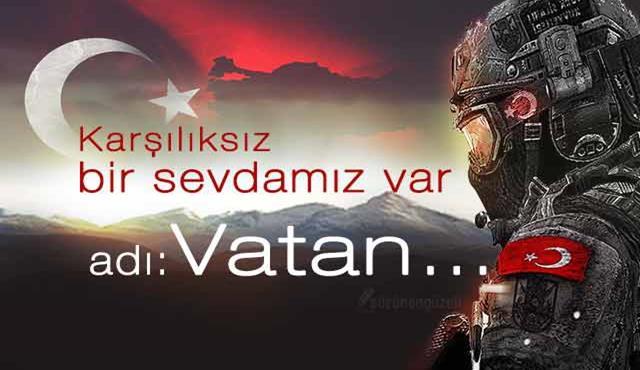 Karşılıksız bir sevdamız var.. Adı Vatan.. Türk Ordusu İle İlgili Resimli Sözler - Türk Ordusu İle İlgili Resimli Sözler - Türk Ordusu İle İlgili Sözler, resimli-sozler